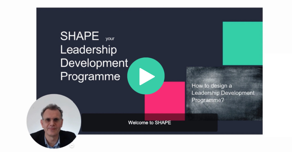Click to view a short introductory video to our SHAPE Leadership Development Programme
